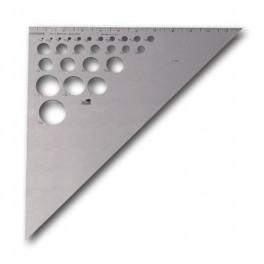 """Escuadra de Aluminio con Circulo Int.  12"""""""